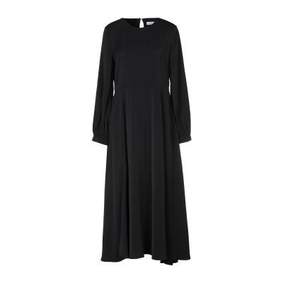 アノニム デザイナーズ ANONYME DESIGNERS 7分丈ワンピース・ドレス ブラック M ポリエステル 100% 7分丈ワンピース・ドレス