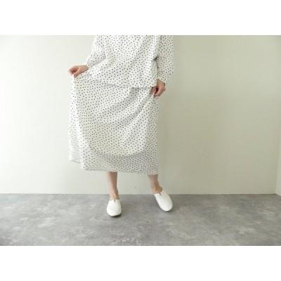 ichi(イチ) コットンレーヨンランダムドット スカート(201019)