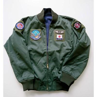 12飛行隊刺繍入り リバーシブルフライトジャンパー