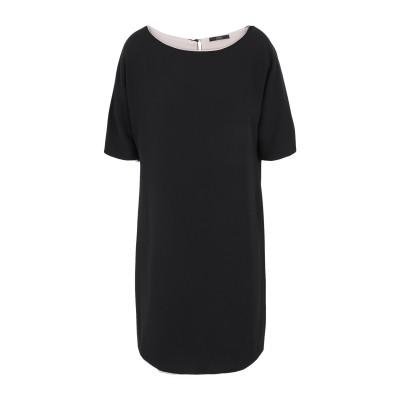 SEVENTY SERGIO TEGON ミニワンピース&ドレス ブラック 40 ポリエステル 100% ミニワンピース&ドレス