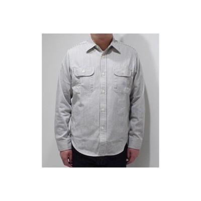 シュガーケーン 長袖 ヒッコリーストライプワークシャツ SUGAR CANE HICKORY STRIPE WORK SHIRT SC27853