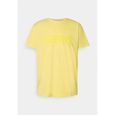 エスプリ Tシャツ メンズ トップス ICON - Print T-shirt - light yellow