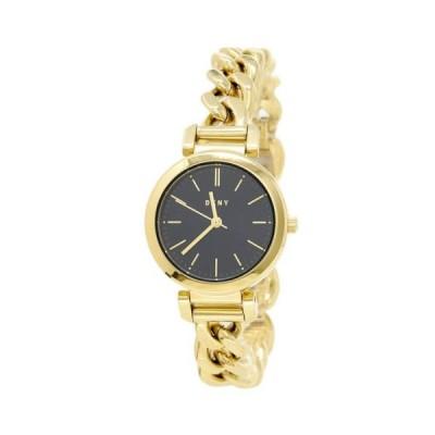 腕時計 ディーケーエヌワイ DKNY NY2665 Women's Ellington Black Dial Yellow Gold Steel Watch