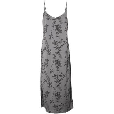 RUE•8ISQUIT ロングワンピース&ドレス 鉛色 40 レーヨン 94% / ポリウレタン 6% ロングワンピース&ドレス