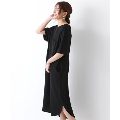 大きいサイズ シックスタイル ワッフルバックボタンカットソーワンピース ,スマイルランド, ワンピース, plus size dress
