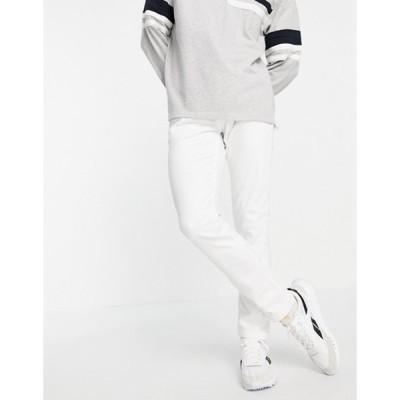 プルアンドベアー メンズ デニムパンツ ボトムス Pull&Bear slim fit jeans in white