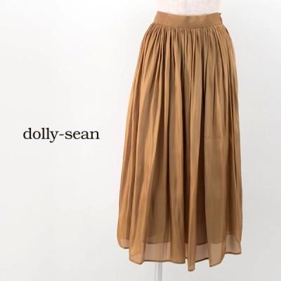 dolly sean ドリーシーン レディース ギャザーロングスカート(M-8777)(BASIC)