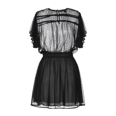 メゾンスコッチ MAISON SCOTCH ミニワンピース&ドレス ブラック S ナイロン 94% / ポリウレタン 6% ミニワンピース&ドレス