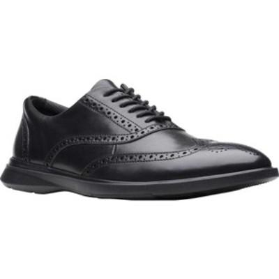 クラークス メンズ ドレスシューズ シューズ Un Lipari Ave Wing Tip Oxford (Men's) Black Full Grain Leather