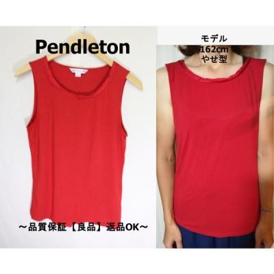 Pendletonタンクトップレッド/ペンドルトン老舗良品M