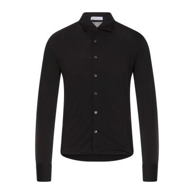 クルチアーニ CRUCIANI シャツ ブラック 48 コットン 93% / ポリウレタン 7% シャツ