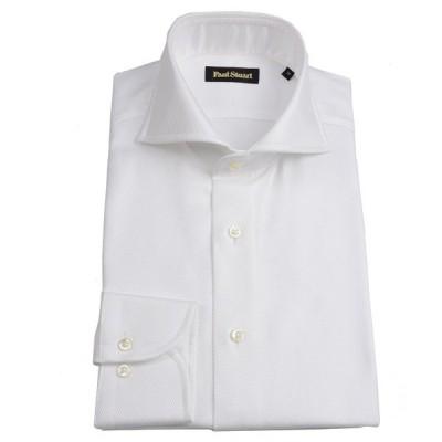 ポールスチュアート PAUL STUART メンズ ホリゾンタルワイドシャツ ホワイト フレンチツィールドレスシャツ