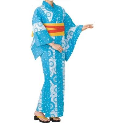 お仕立上り浴衣(女性用) 蛇の目傘・桜 78-ty21300-1(ty70624)