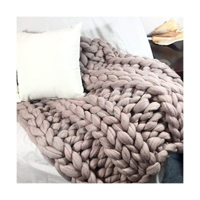 新品未使用!!送料無料!!QFFL Chunky Knit Blanket Large Chunky Knit Blanket Soft and Thick Giant Hand Knit Throw for Bed Throw Big Thr