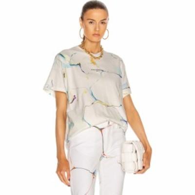 ステラ マッカートニー Stella McCartney レディース Tシャツ トップス Marbling T Shirt Pure White