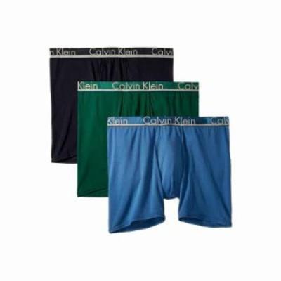 カルバンクライン ボクサーパンツ Comfort Microfiber 3-Pack Boxer Brief Hague Blue/Downpour/Georgia