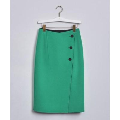 UNITED ARROWS / UBCB リバー バイカラー ラップスカート20AW† WOMEN スカート > スカート