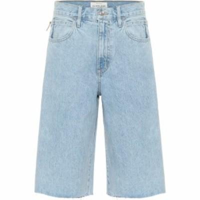 シルバーレーク Slvrlake レディース ショートパンツ デニム ボトムス・パンツ high-rise denim shorts Clearsky