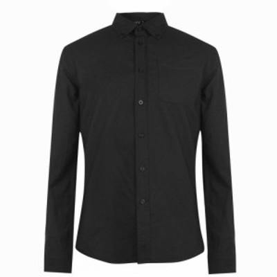 ファイヤートラップ Firetrap メンズ シャツ トップス Basic Oxford Shirt Black