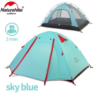 送料無料 Naturehike P シリーズ屋外のキャンプのテント 2 人冬の大超軽量防水観光テント旅行睡眠ガゼボ