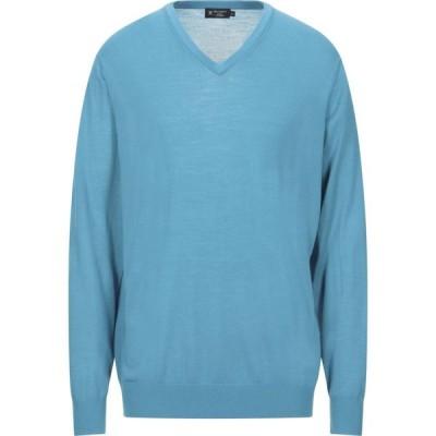 ハケット HACKETT メンズ ニット・セーター トップス sweater Turquoise