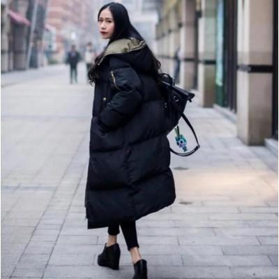 [55555SHOP]【韓国ファッションNo.1 】秋冬新品/綿入れダウンコート/フード付きジャケット/防寒  大きいサイズ 暖かい