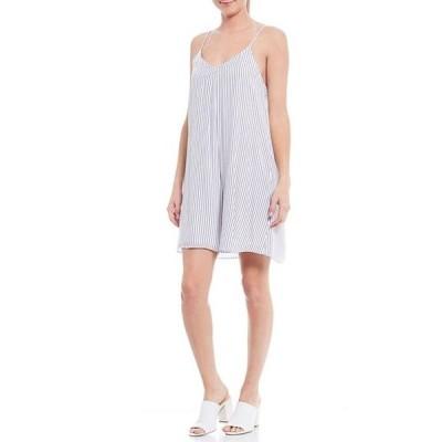 ジャンビニ レディース ワンピース トップス Posie Striped V-Neck Sleeveless Dress