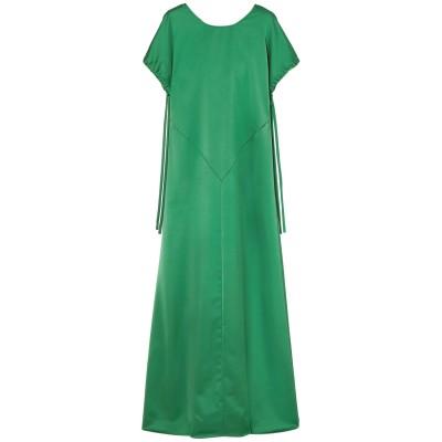 セドリック シャルリエ CEDRIC CHARLIER ロングワンピース&ドレス グリーン 38 ポリエステル 100% ロングワンピース&ドレス