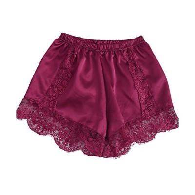 (エンジェルムーン) AngelMoon ペチコート パンツ ショート サテン つるつる レース インナー ルームウェア ガウチョ用 スカート ング さらさら ふんわり キャミ