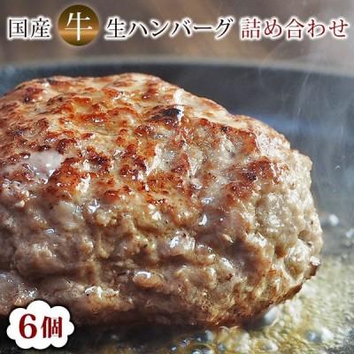 【 送料無料 】 生ハンバーグ 詰め合わせ バイキング 6個セット ハンバーグソース付き 冷凍 牛 豚 敬老の日 残暑見舞い ギフト 祝 グルメ 肉