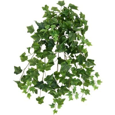屋外対応 アイビー 全長60cm 2本セット(フェイクグリーン 人工観葉植物 造花 おしゃれ テラス 庭 バルコニー)