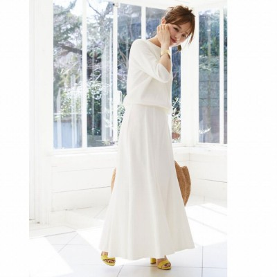ティティベイト titivate デニムソフトマーメードスカート (ホワイト)