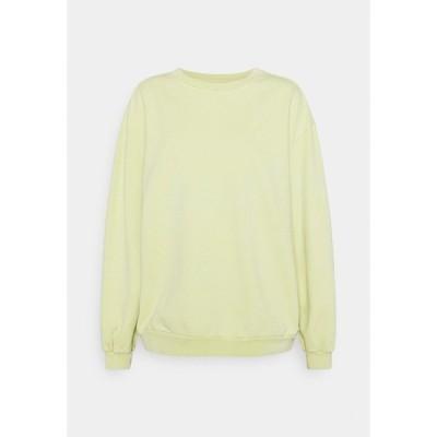 リーバイス パーカー・スウェットシャツ レディース アウター MELROSE SLOUCHY CREW - Sweatshirt - shadow lime