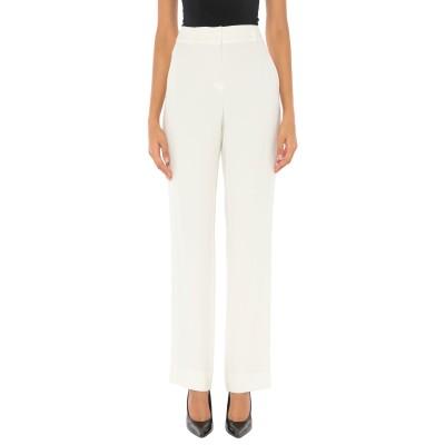 SLOWEAR パンツ ホワイト 44 レーヨン 78% / アセテート 18% / ポリウレタン 4% パンツ