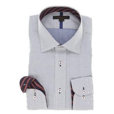 形態安定レギュラーフィット ワイドカラーテープ使い長袖シャツ