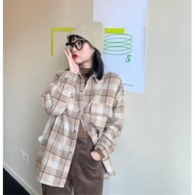 華やか トレンド韓国 レトロ 厚手 シャツ スリム オシャレ ブラウス シンプル
