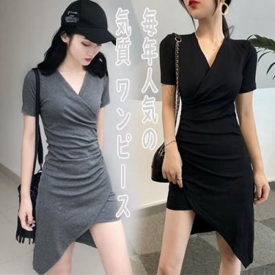 [55555SHOP]夏日 流行のレデイース服 着まわし抜群 気質  OL  タイトスカート シックな魅力、ダイヤモンド 細身 ウエスト ワンピース