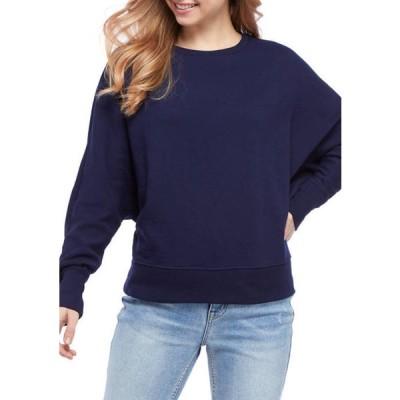 クラウン&アイビー レディース パーカー・スウェット アウター Women's Long Dolman Sleeve Sweatshirt
