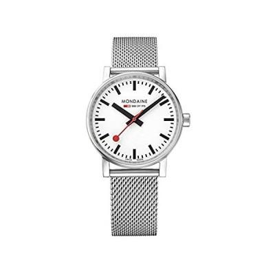 Mondaine SBB Swiss-Quartz Watch with Stainless-Steel Strap, Silver, 18 (Mod