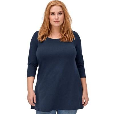 レディース 衣類 トップス ellos Women's Plus Size 3/4 Sleeve Knit Tunic ブラウス&シャツ