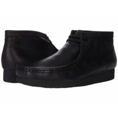 Clarks クラークス メンズ 男性用 シューズ 靴 ブーツ チャッカブーツ Shacre Boot Black Leather【送料無料】