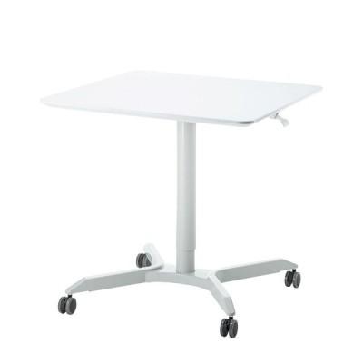 サンワサプライ ガス昇降ミーティングデスク(四角天板) ERD-MTGGS800W 高さ調節 シンプル テーブル