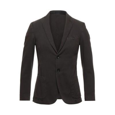 FUTURO テーラードジャケット ダークブラウン 48 コットン 88% / ポリエステル 10% / ポリウレタン® 2% テーラードジャケット