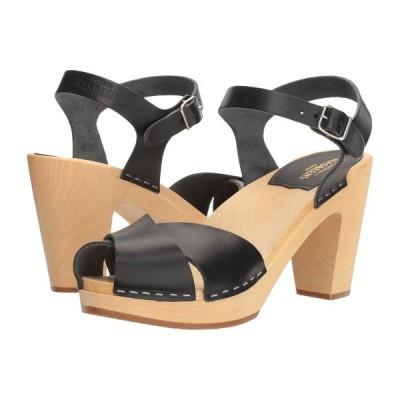 スウェディッシュ ハズビーンズ Swedish Hasbeens レディース サンダル・ミュール シューズ・靴 Merci Sandal Black