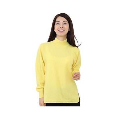 ゴビ(GOBI) カシミヤ100% ハイネック セーター カラー:イエロー サイズ:M ニット カシミヤセーター カシミヤ カシミア