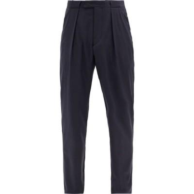 アルマーニ Giorgio Armani メンズ ボトムス・パンツ Pleated-rise wool-twill trousers Navy