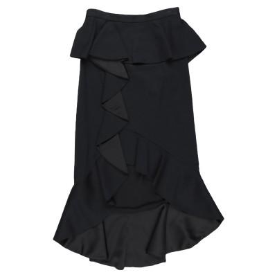 アリス・アンド・オリビア ALICE + OLIVIA ひざ丈スカート ブラック 6 コットン 50% / レーヨン 48% / ポリウレタン 2%