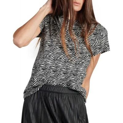 サンクチュアリ Sanctuary レディース Tシャツ トップス The Perfect Zebra-Print T-Shirt Abstract Animal