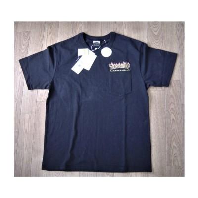 セール30% THRASHER スラッシャー USA 綿 ヘビーウェイト 厚地 フレーム 刺しゅう ポケット Tシャツ 半袖 TH91243PUS 新品