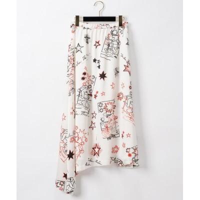 GRACE CONTINENTAL / スタープリントフレアスカート WOMEN スカート > スカート